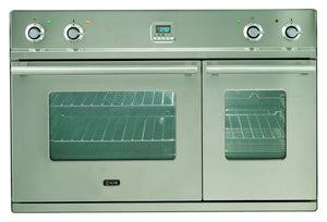 90cm Roma Twin Built-In Oven Stainless Steel