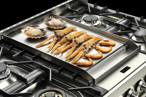 Fry-top for Central Induction Range Cookers