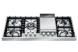 HAP125FD 120cm Roma Freestanding Gas Hob - 4 Burners and Fry Top