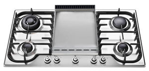 HCB90FCN 90cm Milano Gas Hob -  4 Burners and Fry Top