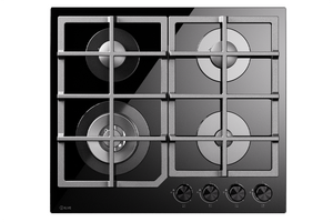 HCG60CK 60cm Nero Gas Hob - 4 Burners