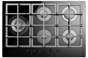 HCG75SCK 75cm Nero Gas Hob - 5 Burners