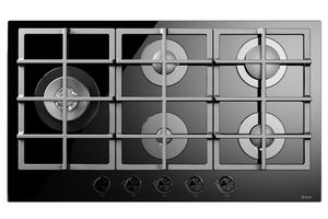 HCG90SCK 90cm Nero Gas Hob - 5 Burners