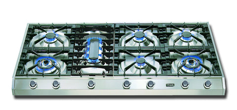 120cm Professional Gas Hob 7 Burner Fish Burner Stainless Steel