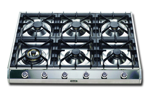 90cm Professional Gas Hob 6 Burner Stainless Steel