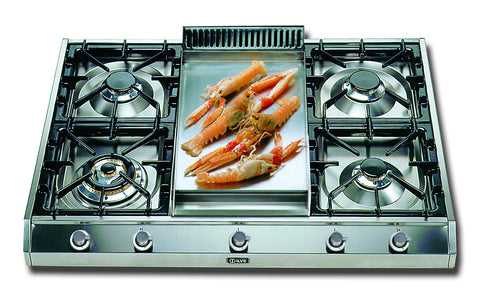 90cm Professional Gas Hob  4 Burner Fry Top Stainless Steel