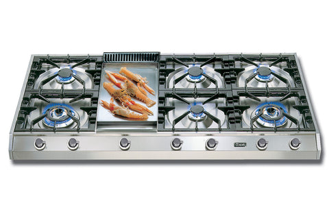 120cm Professional Gas Hob 6 Burner Fry Top Stainless Steel