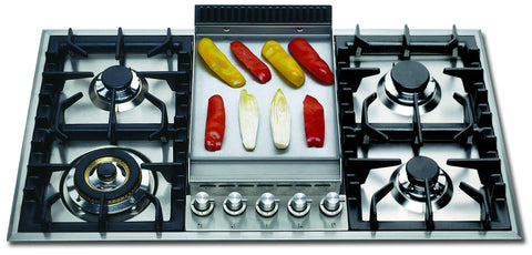 HP95FD 90cm Roma Gas Hob - 4 Burner Fry Top