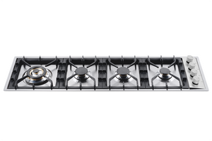 HPT1230D Roma 120cm Flush Gas Hob Horizontal - 4 Burners