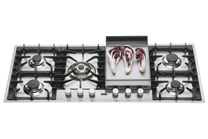 HPT125FD Roma 120cm Flush Gas Hob - 5 Burners & Fry Top