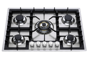 HPT75D Roma 70cm Flush Gas Hob - 5 Burners