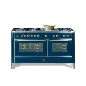 Majestic Milano 150cm Twin Gas Range Cooker Blue