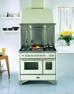 Majestic Milano 100cm Twin Gas Range Cooker Cream