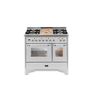 Majestic Milano 100cm Twin Dual Fuel Range Cooker White