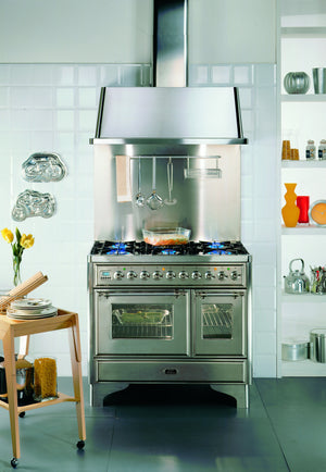 Majestic Milano 100cm Twin Gas Range Cooker Stainless Steel
