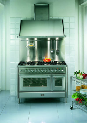 120cm 90 / 30 Twin Dual Fuel Range Cooker Stainless Steel