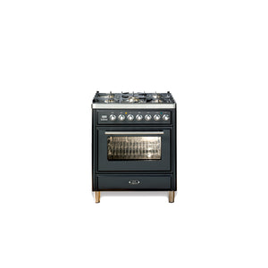 76cm Single Gas Range Cooker Matt Black
