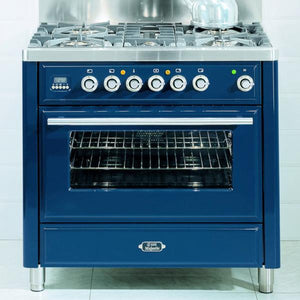 Roma 90cm Induction Range Cooker Blue