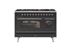 NEW: 120cm Milano 8 Burner Double Oven Dual Fuel Range Cooker