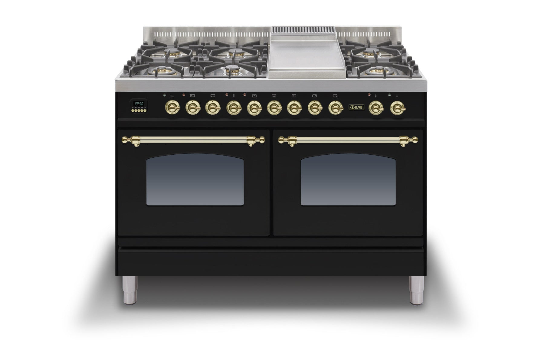 120cm 60/60 Dual Fuel Range Cooker Black
