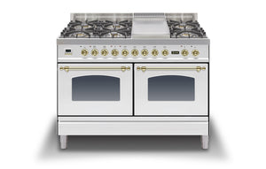 120cm 60/60 Dual Fuel Range Cooker White