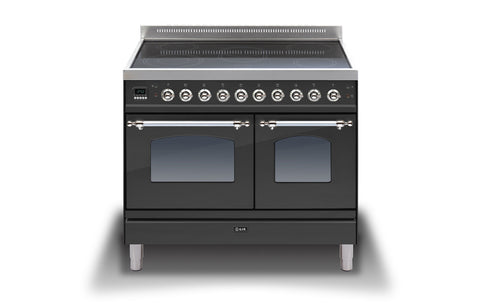 100cm Twin Induction Range Cooker Matt Black