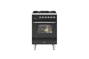 NEW: 60cm Milano 4 Burner Single Oven Dual Fuel Range Cooker