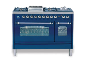 120cm 90/30 Twin Dual Fuel Range Cooker Blue