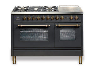 120cm 70/40 Dual Fuel Range Cooker Matt Black