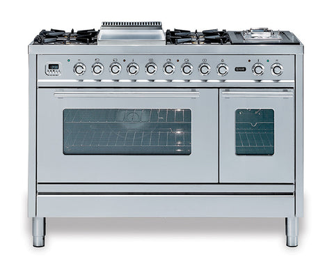 Roma 120cm 90/30 Twin Dual Fuel Range Cooker