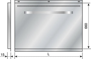 Back Panel for Majestic Range Cookers Dimensions