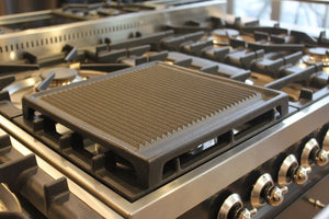 Cast Iron Ribbed Griddle for Range Cookers