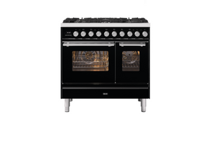 NEW: 90cm Roma 6 Burner Double Oven Dual Fuel Range Cooker