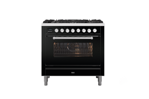 NEW: 90cm Roma 6 Burner Single Oven Dual Fuel Range Cooker