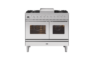 NEW: 100cm Roma Fry Top Double Oven Dual Fuel Range Cooker