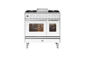 NEW: 90cm Roma Fry Top Double Oven Dual Fuel Range Cooker