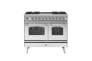 NEW: 100cm Milano 2 Zone Induction with 4 Gas Burners Double Oven Dual Fuel Range Cooker