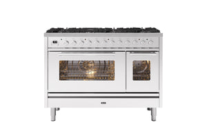 NEW: 120cm Roma 7 Burner Double Oven Dual Fuel Range Cooker