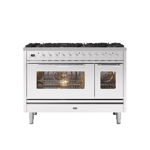 NEW: 120cm Roma 8 Burner Double Oven Dual Fuel Range Cooker