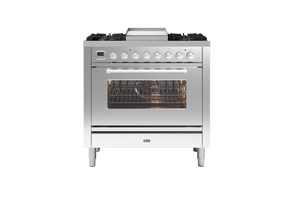 NEW: 90cm Roma Fry Top Single Oven Dual Fuel Range Cooker