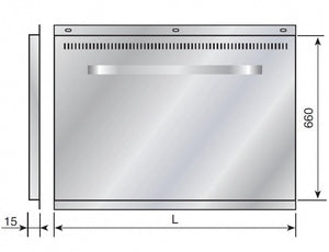 Back Panel for Range Cookers Dimensions
