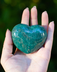 green amazonite palm stone for fear and stress relief