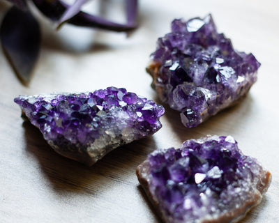 Deep Purple Amethyst Cluster