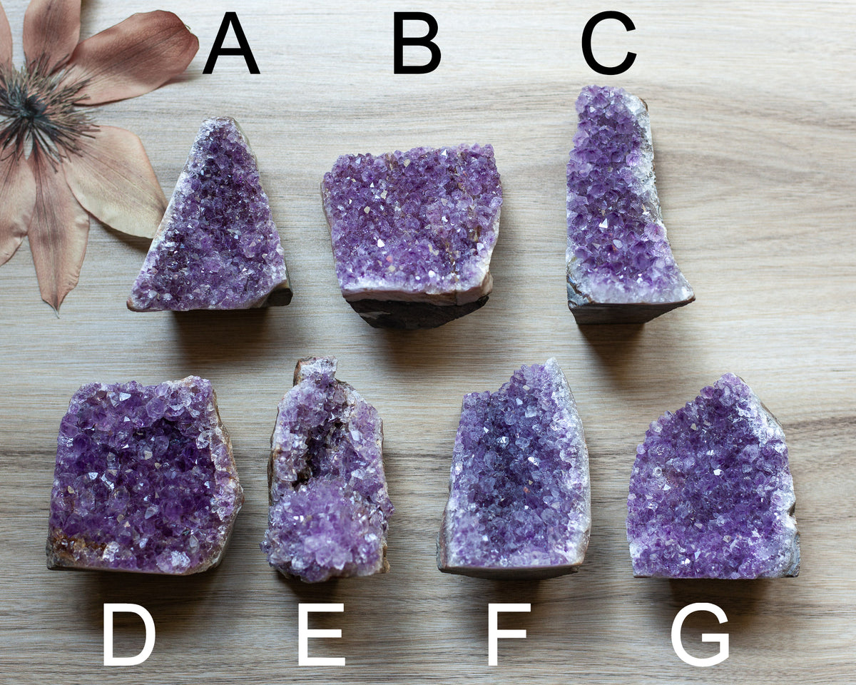 Standing Cut Base Amethyst Display