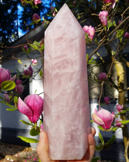 Giant Rose Quartz Tower