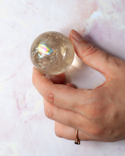 Rainbow Calcite Sphere