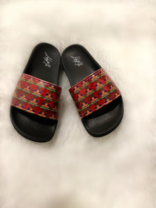 New Unisex Haiti Emblem Slides ( Blue)