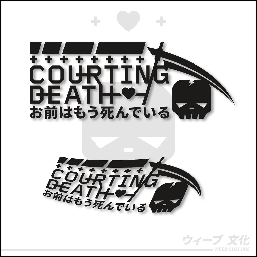 Courting Death Decal