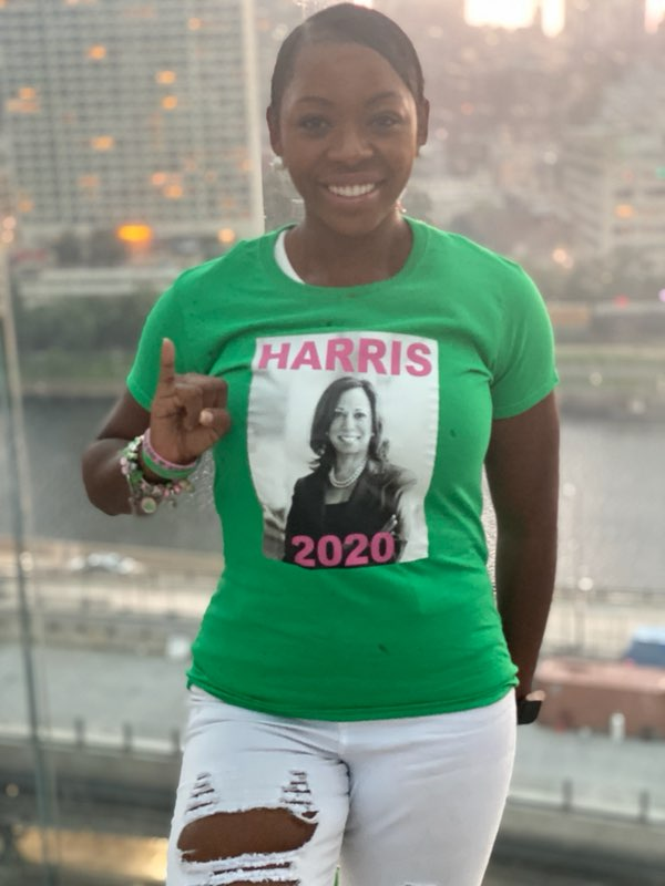 HARRIS 2020 Pink and Green Tee