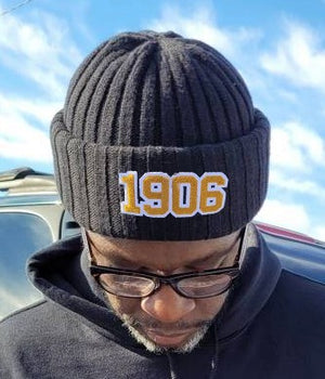 1906 Chenille Knitted Beanie Hat